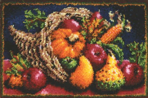 Caron Classics CC0105 20-Inch by 30-Inch Latch-Hook Kit, Country Harvest