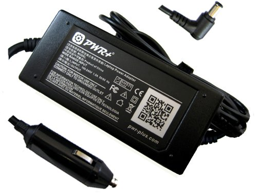 Pwr+ Car Charger for Acer Aspire 5251 5252 5334 5336 5517 5532 5534 5542 5551 5552 5553 5732 5734 5735 5736 5738 5739 5740 5741 5742 5745 5810 5820 7540 7551 7736 7741 7745 65w Dc Adapter Power Distribute Cord 12v Laptop Battery Charger