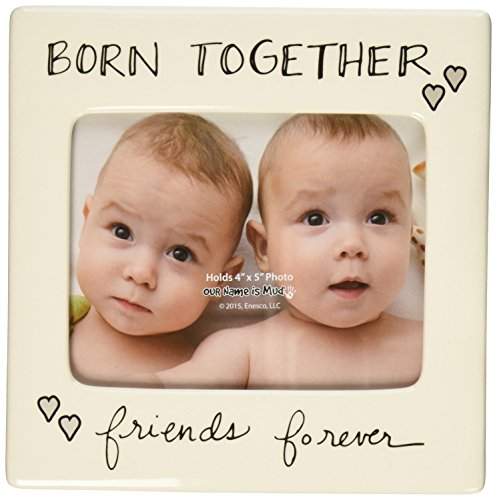 """Enesco Our Name is Mud by Lorrie Veasey Born Together Frame, 6"""""""