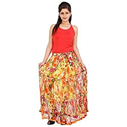 Indigocart Eye-Catching Multicolor Cotton Printed Skirt