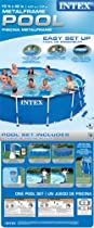 Big Sale Intex 56948EG 15-Feet by 42-Inch Metal Frame Pool Set