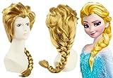 Anangel® Free Hair Cap+ Princess Frozen Snow Queen Beige Elsa Wig Snow Queen Cosplay Convention Costume Wigs