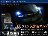 ラクティス ポジション灯 LED T10 T16 1W ブルー ナンバー灯 改良型 2個セット