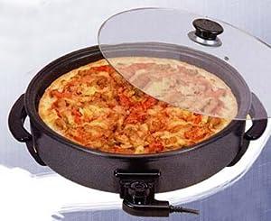 Piastra forno pizza cuocipizza elettrico antiaderente con - Forno elettrico pizza casa ...