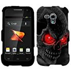 Samsung Galaxy Rush Red Eye Skull on Black Hard Case Phone Cover