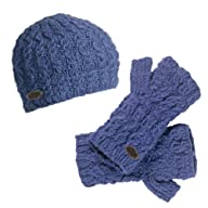 Turtle Fur - Women's Nepal Mika, Artisan Hand Knit Wool Beanie and Fingerless Mittens Set