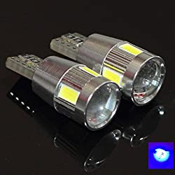 See Canbus T10 Samsung Projector 6 LED Light Bulbs Auto Replacement Lighting With Aluminum Heat Sink Ice Blue Super Bright Car Light Bulb 194 168 2825 W5W 147 152 158 159 161 184 192 193 2881 Compare To Sylvania Osram Phillips L153 Details