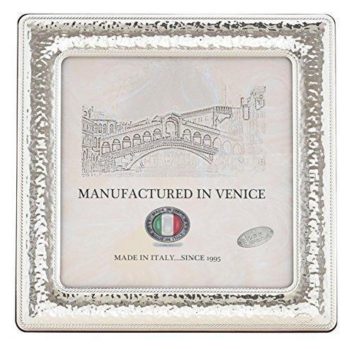QUADRATO XL Cornice per Foto 17x17cm Portafoto Argento Artigianale Made in Italy