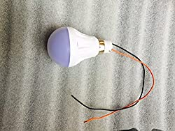 Belifal 5W DC High Brightness LED bulb for any 12V Battery, Solar application Made in India use in car or any 12v battery like inverter bike car battery