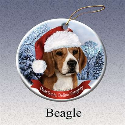 Beagle Porcelain Christmas Ornament