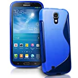AIO® Samsung Galaxy Mega 6.3 I9200 Blue S Line Wave Gel Case Cover & Screen Protector