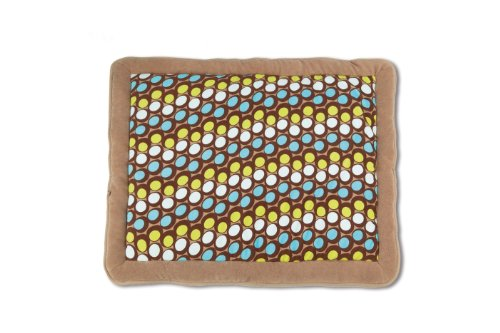 Baby Boum 75 x 95cm Super Soft Oblong Padded Play Mat/Playpen Mat (Abstract Cacao, Sisko Collection)