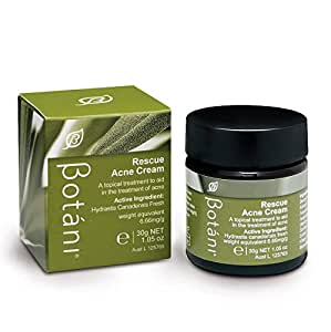 botani australia rescue acne cream 100 all natural acne treatment proven 99 9. Black Bedroom Furniture Sets. Home Design Ideas