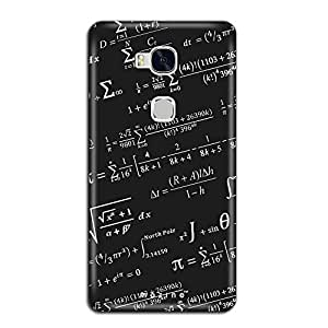 Mozine Black Board Printed Mobile Back Cover For Huawei Honor 5x