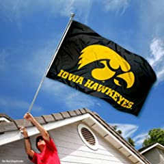 Buy Iowa Hawkeyes Black University Large College Flag by College Flags and Banners Co.