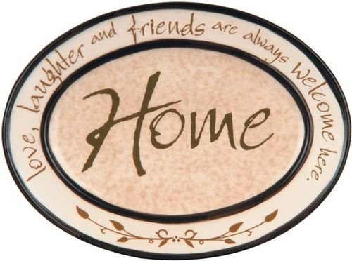 Home Heart Note Mini Plate With Stand 64056
