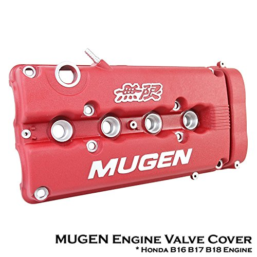 MUGEN Style Red Rocker Engine Valve Cover Fit Honda B16A B17A B18C Engine VTEC (Mugen Honda Fit compare prices)