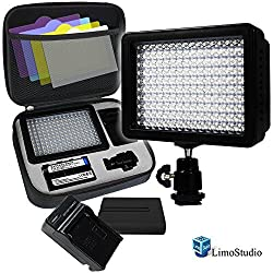 LimoStudio 160 LED Video Light Lamp Panel Dimmable for DSLR Camera DV Camcorder, AGG1318