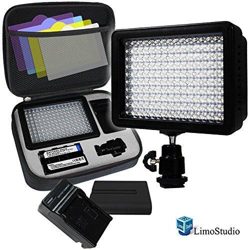 LimoStudio 160 LED Video Light Lamp Panel Dimmable for DSLR Camera DV Camcorder, AGG1318 (Dslr Camera Led Light compare prices)