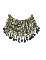 Monalisa Exports Purple Green Kundan Bridal Jewellery Set For Women - B00N9VN0LS