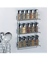 Organize It All 3-Tier Wall-Mounted Spice Rack - Chrome (1812) by Organize It All