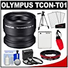 Olympus TCON-T01 Tele Converter Lens & CLA-T01 Adapter Ring Pack for Tough TG-1, TG-2 & TG-3 iHS Camera with Li-90B Battery + Tripod + 3 UV/CPL/ND8 Filters + Acc Kit