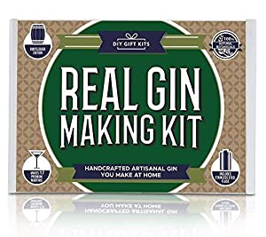 Real Homemade Gin Kit & Stainless Steel Personalized Flask, For Making Delicious Martinis, Gin and Tonics, Spirits & Cocktails At Home | Botanicals, Recipe Guides, Bottles & Labels & More (Color: Green, Tamaño: Real Gin Kit)