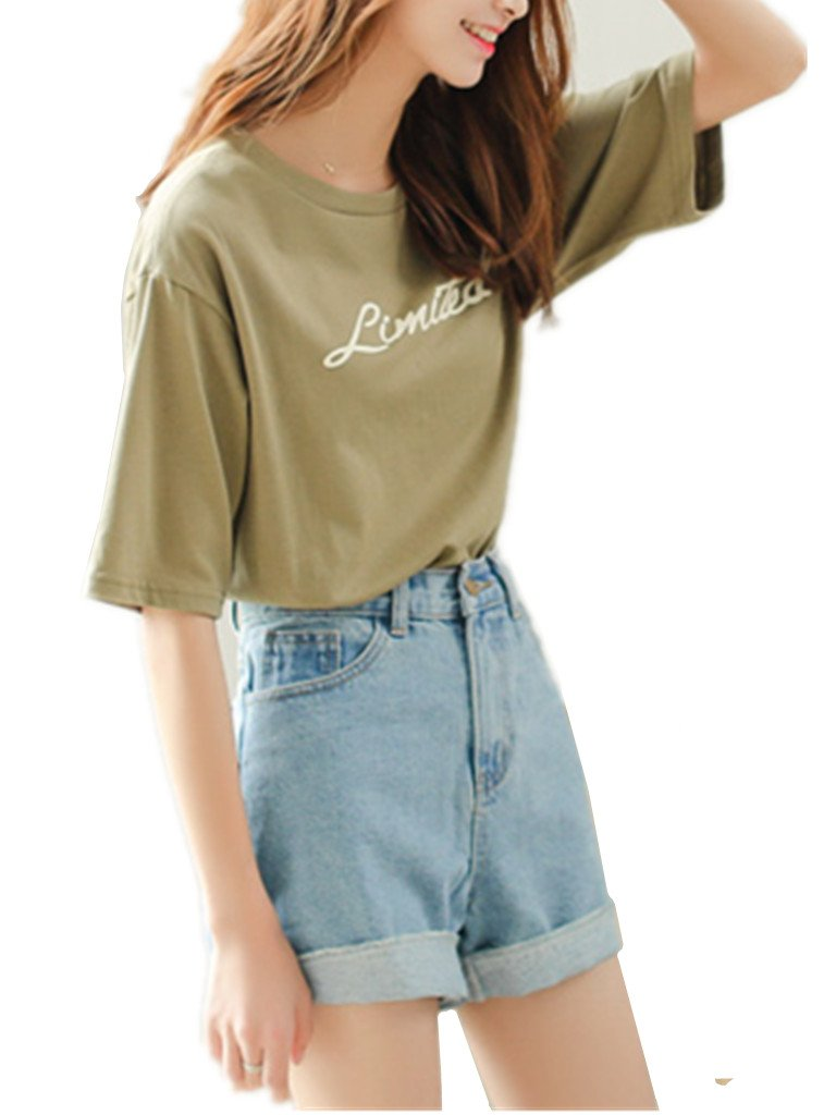 Season Show Girls Denim Shorts Retro High Waisted Jeans Shorts Pant 5