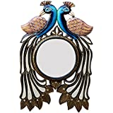 Ghanshyam Art Wood Peacock Wall Mirror (30.48 Cm X 4 Cm X 45.72 Cm, GAC075)