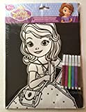 Princess Sofia the First Velvet Coloring Sheet with 5 Markers
