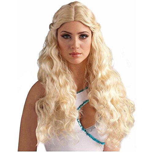 GSG Daenerys Targaryen Costume Wig Medieval Renaissance Halloween Fancy Dress