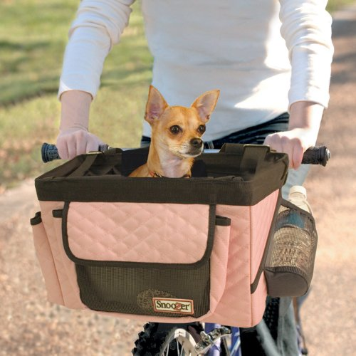 Snoozer Pet Travel Bike Bicycle Basket Back Seat With Safety Rain Cover