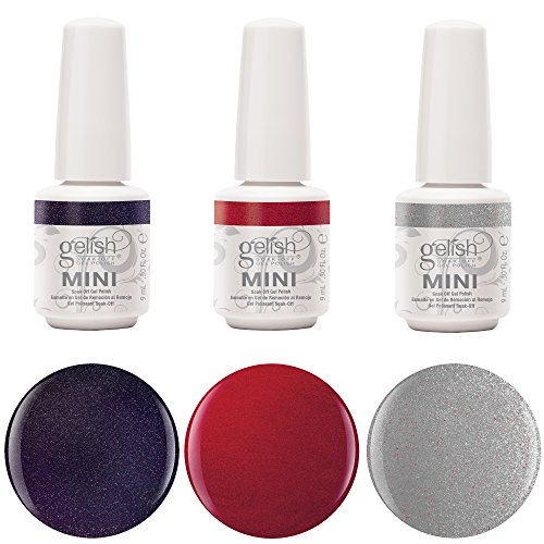Gelish Mini 3 Bottle Soak Off Solid and Shimmer Gel Nail Polish Collection, 9 mL (Mini Gel Polish compare prices)