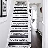 Disney Stair Decals Quotes Stairway Decals Quote 14 Steps Vinyl Stickers Disney lettering Family Home Decor Staircase Decal ZX233