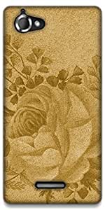 The Racoon Grip Rose hard plastic printed back case / cover for Sony Xperia L