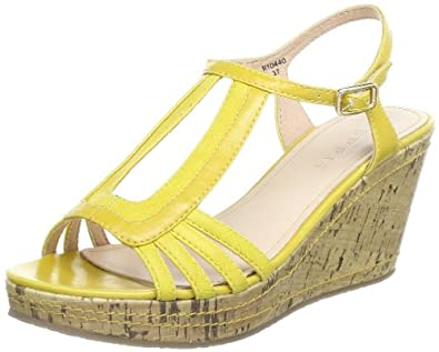 ESPRIT  Julia Sandal, chaussures compensées femme - Jaune - Jaune - Gelb (daffodil yellow 757), 39 EU