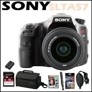 Sony DSLR SLTA57K Alpha 16.1MP DSLR Camera 18-55MM Lens + Sony 16 GB Memory C...