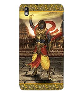 PrintDhaba Lord Krishana D-3077 Back Case Cover for HTC DESIRE 816 (Multi-Coloured)