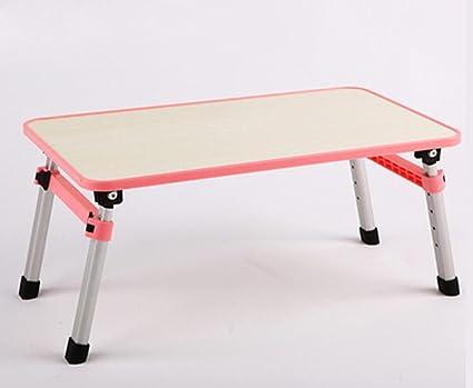 uzi-lazy persone benessere semplice letto, scrivania per PC portatile, studenti impermeabile piccolo pieghevole scrivania Pink