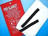 [キカー] [KIKAR] 消火シート 防火ファイヤー ブランケット ガラス繊維製防火用大判布 [1m×1m]