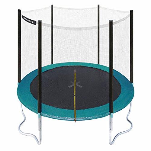 ultrasport-trampolino-da-giardino-jumper-inclusa-rete-di-sicurezza-verde-251-cm