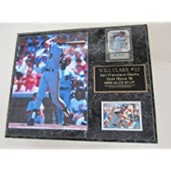 Will Clark San Francisco Giants 2 Card Collector Plaque w 8x10 Photo by J & C Baseball Clubhouse