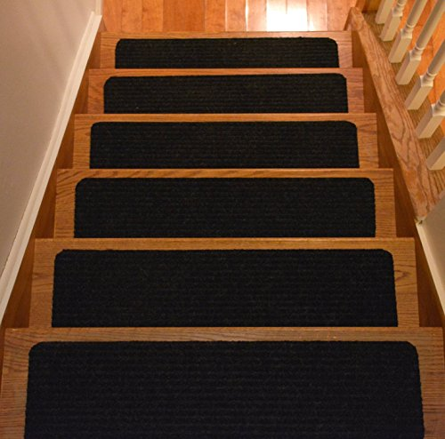 Wooden stair treads indoor skid resistant non slip carpet - Non skid treads for exterior stairs ...