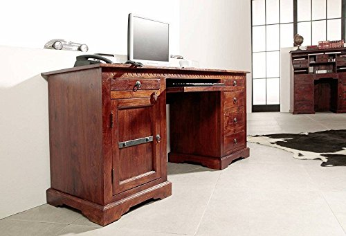 kolonialstil schreibtisch akazie m bel massiv oxford 522. Black Bedroom Furniture Sets. Home Design Ideas