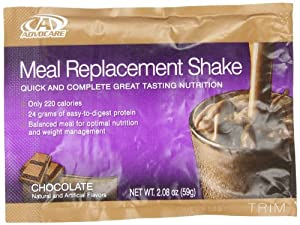 AdvoCare Meal Replacement Shakes - Box of 14 Single Serve Pouches (Chocolate)