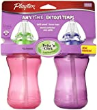 Playtex Playtex Lil' Gripper/anytime 9 Ounce Straw Cup, 2 Count, Colors May Vary, 2 Count