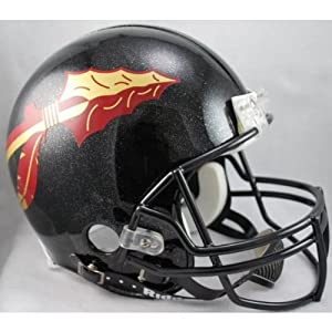 FLORIDA STATE SEMINOLES NCAA Riddell VSR-4 ProLine AUTHENTIC Football Helmet FSU (BLACK) by ON-FIELD