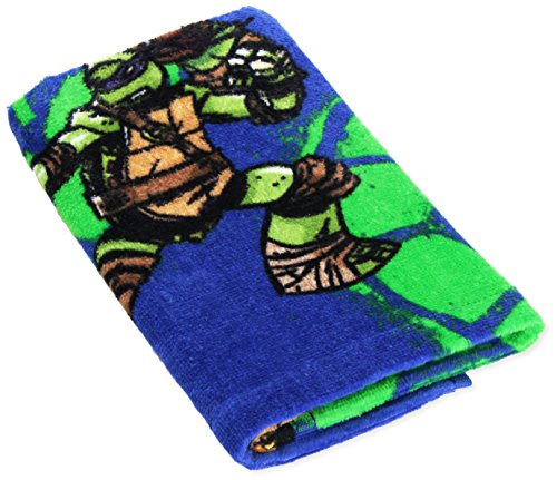 "Nickelodeon Ninja Turtles ""TMNT"" Green and Blue Hand Towel"