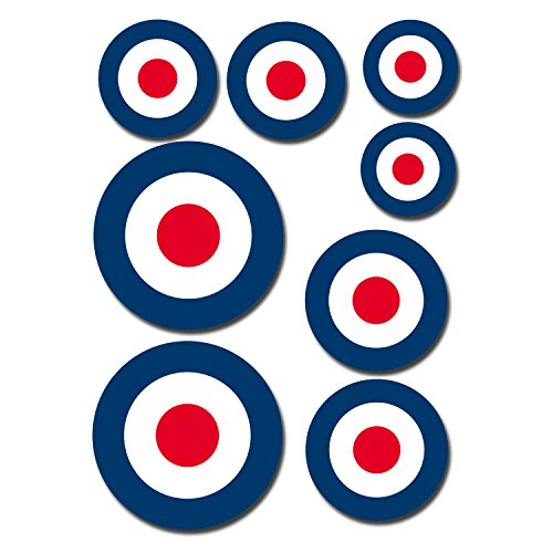 a5-sheet-glossy-vinyl-stickers-raf-roundel-the-who-mod-target-vespa-vw-0199-self-adhesive