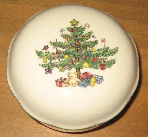 Vintage Nikko Christmas Tree Christmas Trinket Box Nikko Christmas Tree